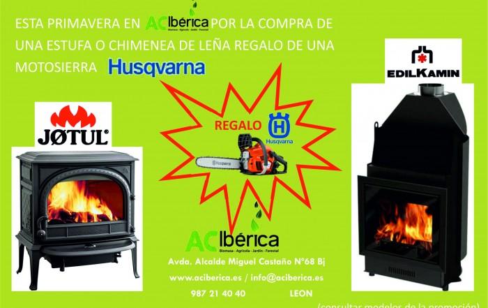 Promoción estufas y chimeneas de leña